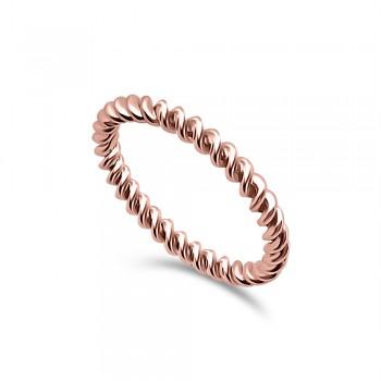 RULO 18K rose gold spiral...