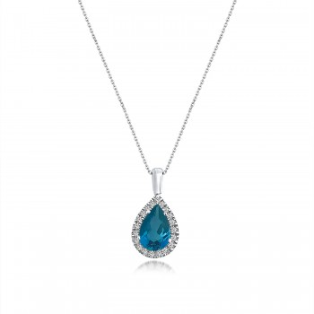 BLUE LAGOON 18K white gold...