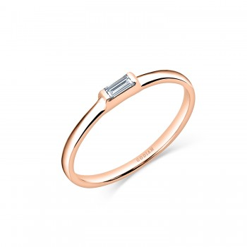 EVA 18K rose gold baguette...
