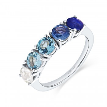 BLUE DEGRADÊ 18K white gold...