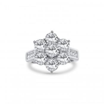 Anillo de Compromiso MADRID fabricado en oro blanco de Primera Ley con diamantes talla brillante