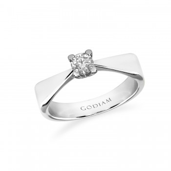 ITZÁ 18K white gold diamond...